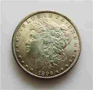 1896 P GEM Uncirculated Morgan Silver Dollar