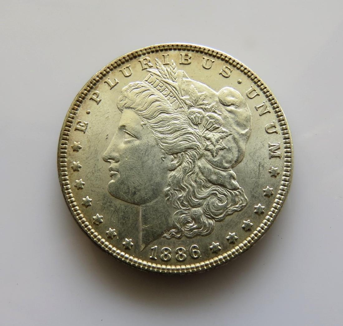 1886 P Morgan Dollar Choice Unc