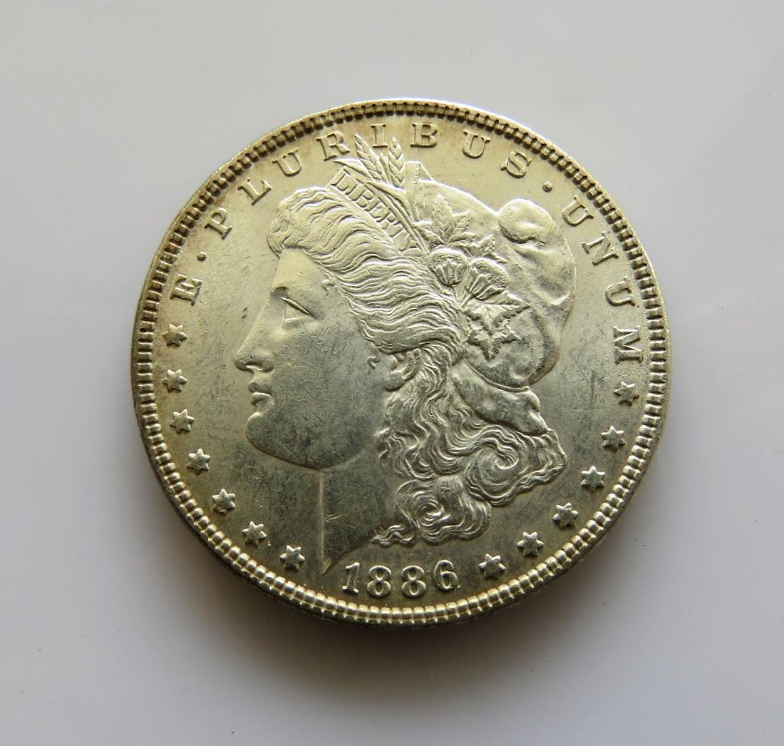 1886 P Morgan Dollar Choice Unc