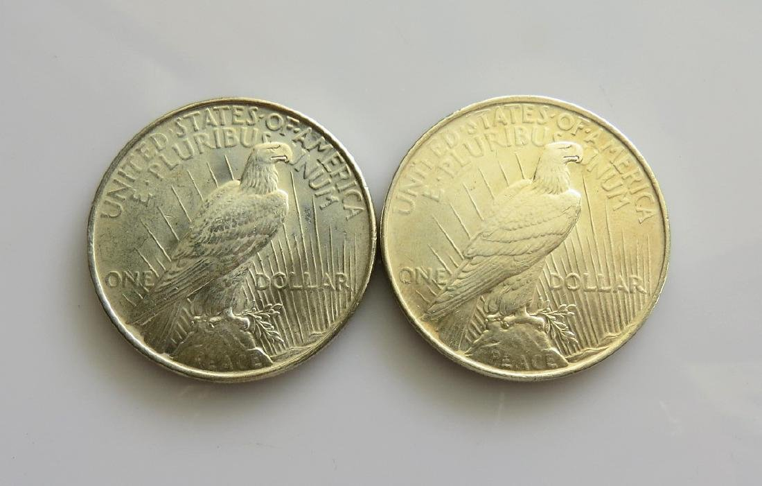 Two (2) 1922 Peace Dollars Choice Uncirculated - 2