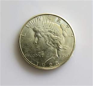 1923 S Peace Dollar Choice Uncirculated