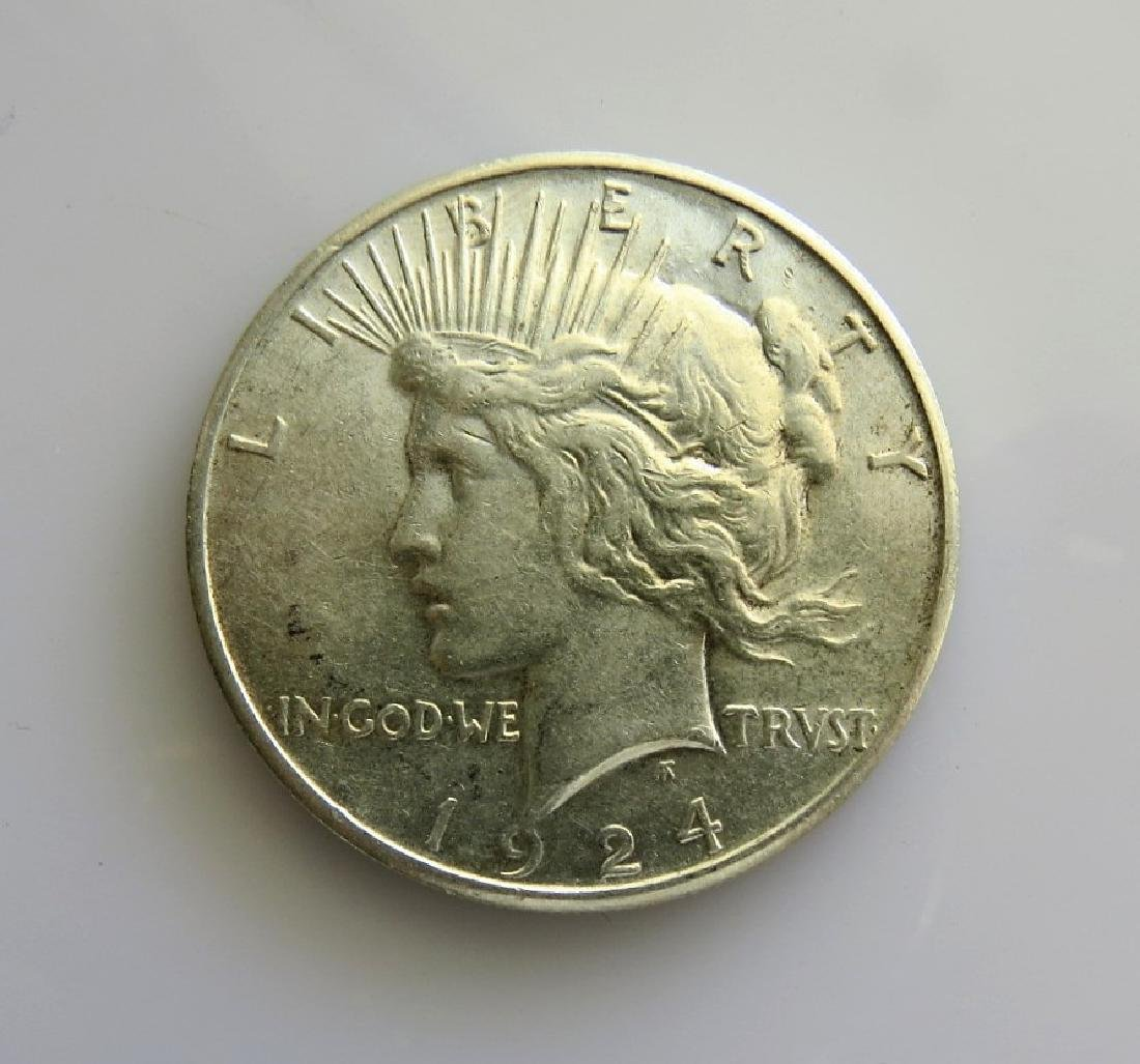 1924 S Peace Dollar Choice Almost Uncirculated
