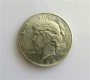 1926 S Peace Dollar Choice Almost Uncirculated