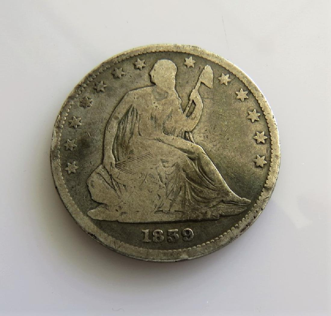 1839 Seated Half-Dollar with Drapery First Year of