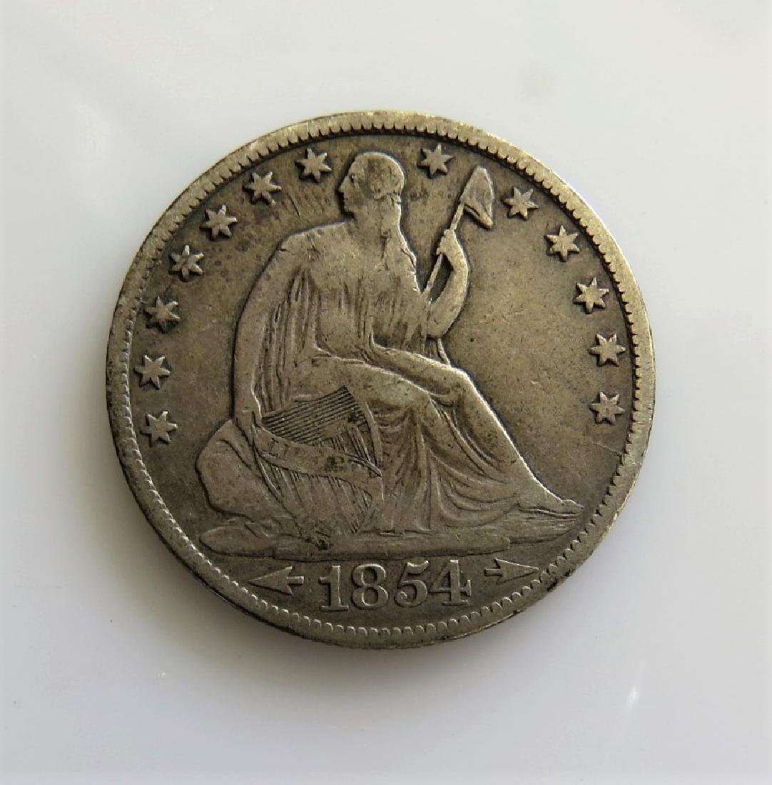 1854 0 with Arrows - Seated Liberty Half-Dollar