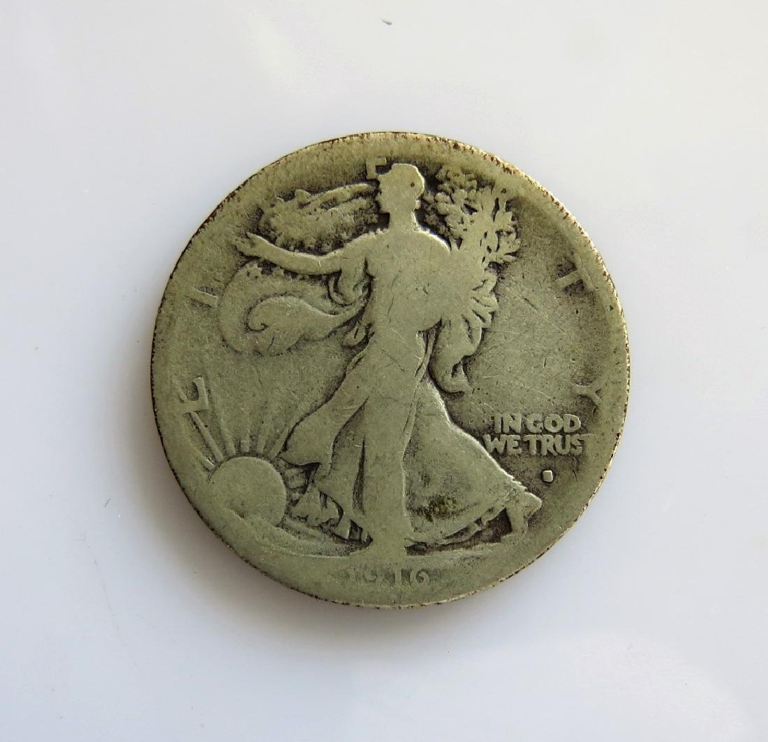 1916 S Walking Liberty Half-Dollar