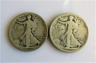 1917 D and 1917 S Reverse Walking Liberty HalfDollars