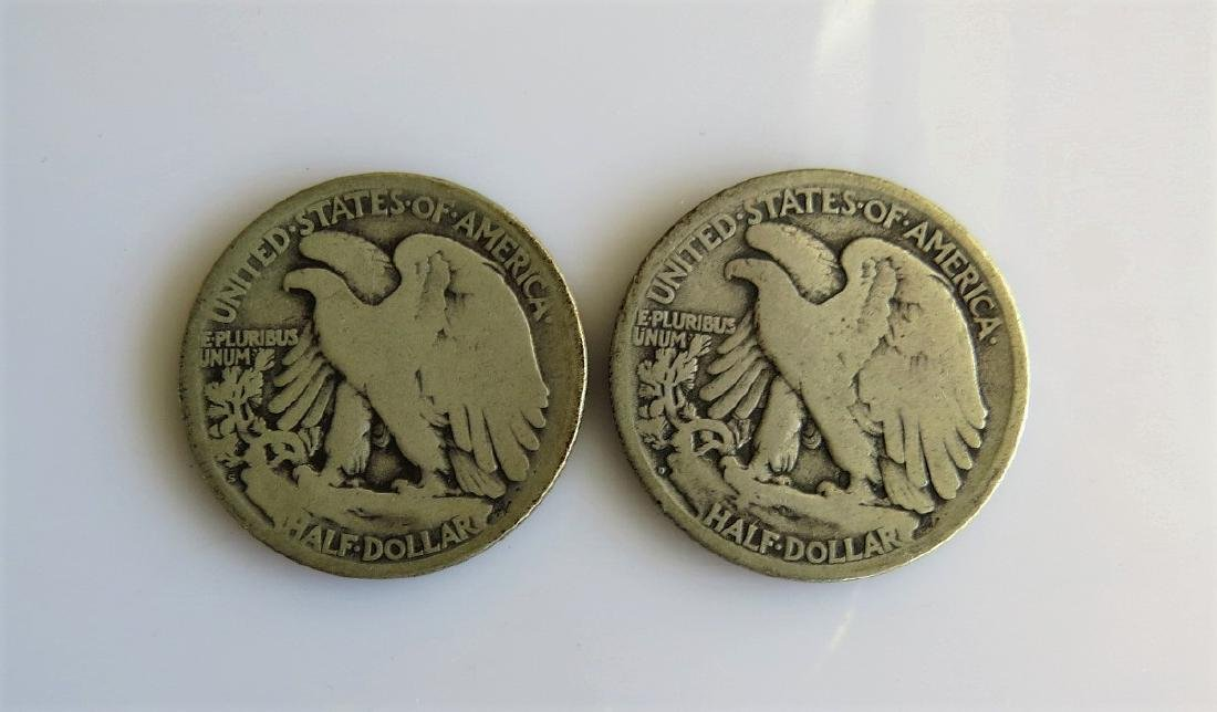 1917 D and 1917 S Reverse Walking Liberty Half-Dollars - 2