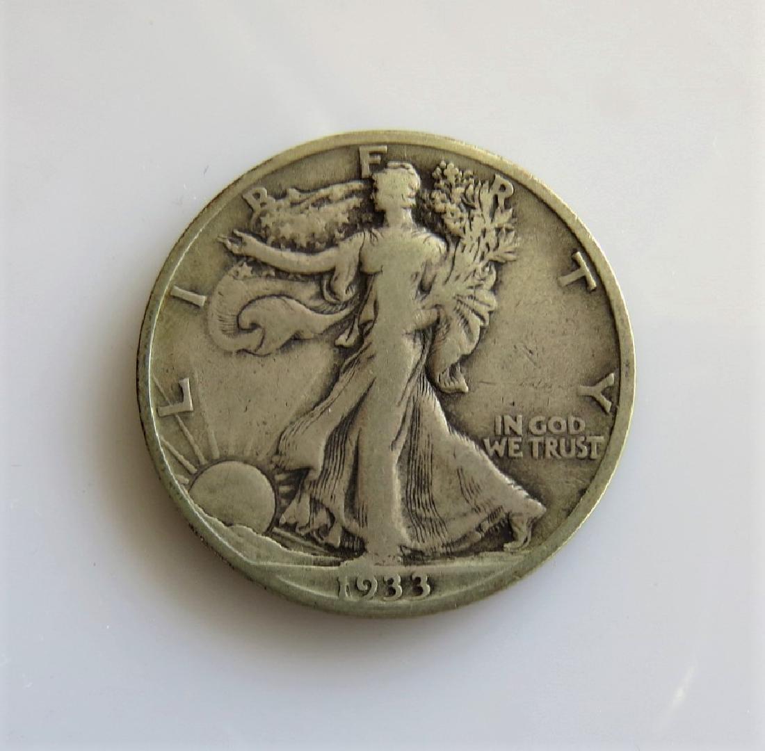 1933 S Walking Liberty Half-Dollar Fine