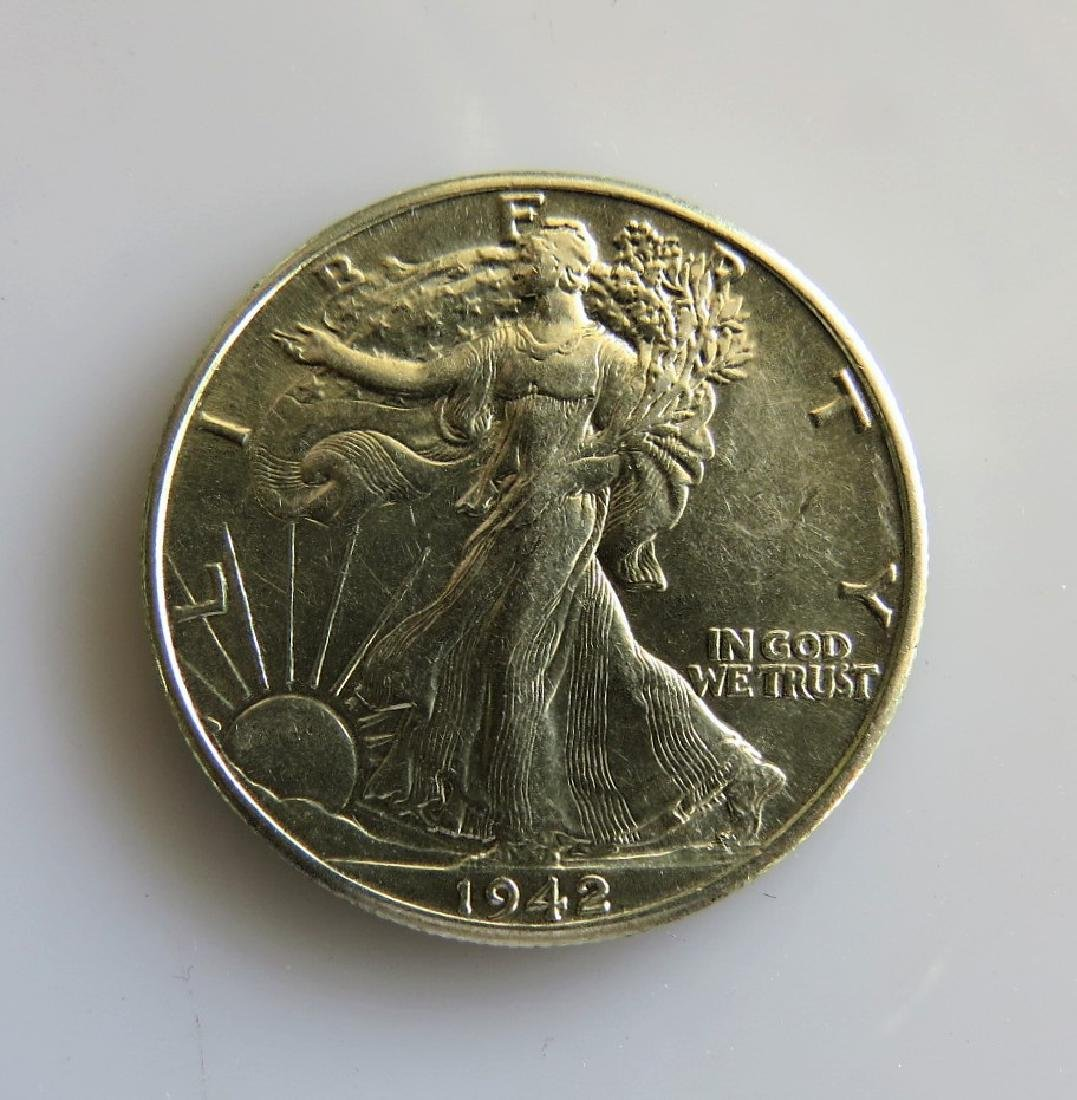 1942 Walking Liberty Half-Dollar Choice AU