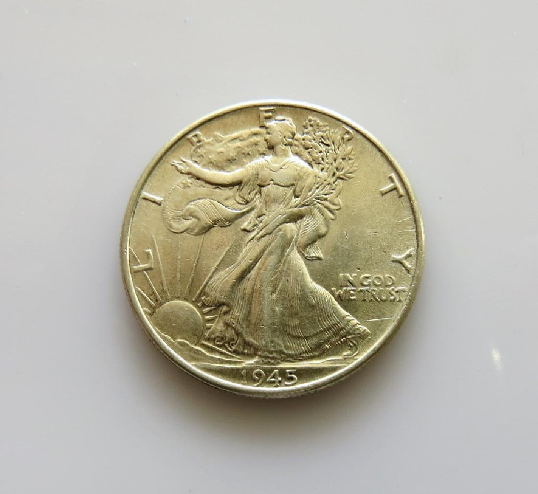 1945 Walking Liberty Half-Dollar Choice AU