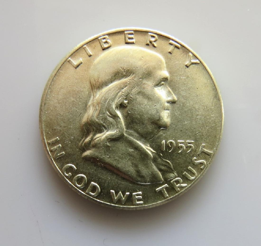 1955 Franklin Half-Dollar Choice Unc