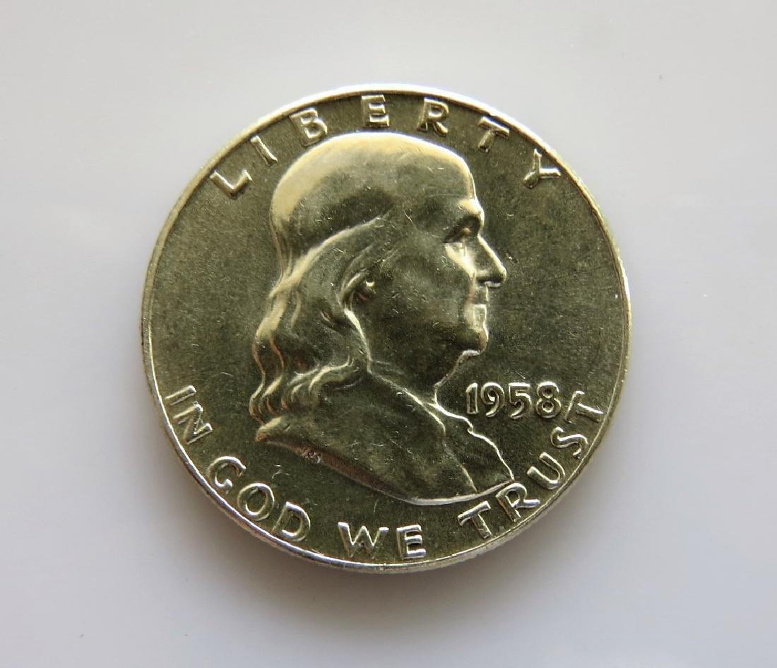 1958 Franklin Half-Dollar Choice Unc