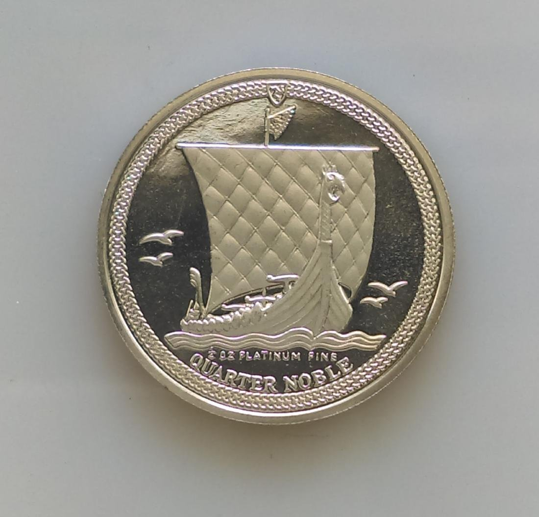 1987 Isle of man 1/4 ounce Platinum Proof Noble **KM168
