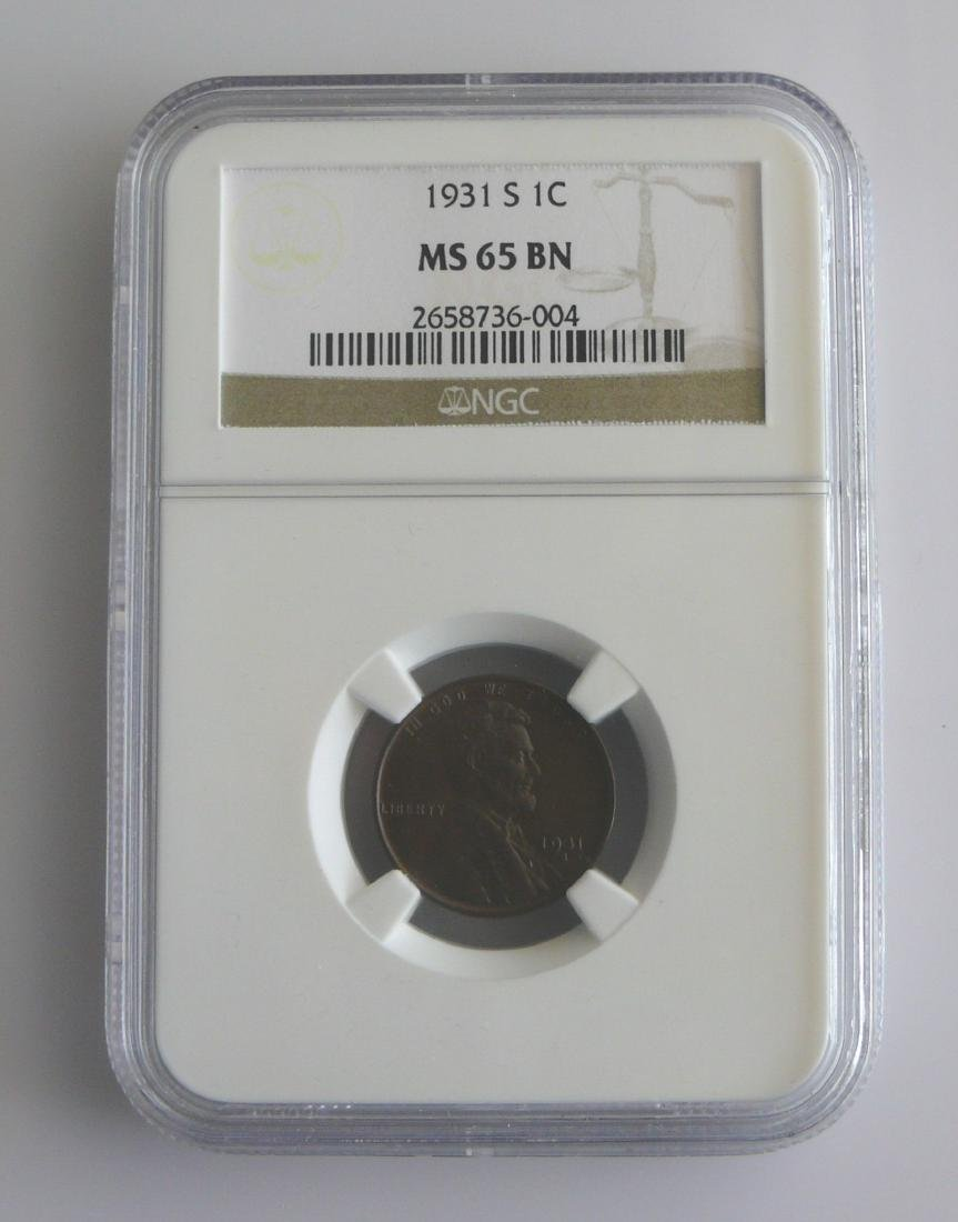 1931-S Lincoln Cent MS65 NGC BN