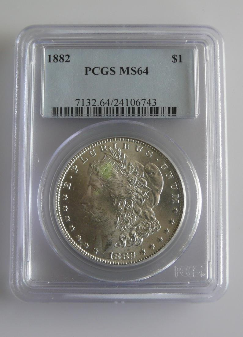 1882 Morgan Dollar PCGS MS64