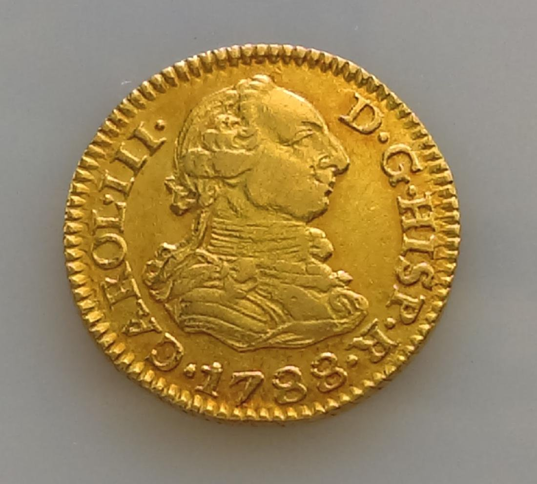 1788 1/2 Escudo Gold Charles III Seville KM#425.2