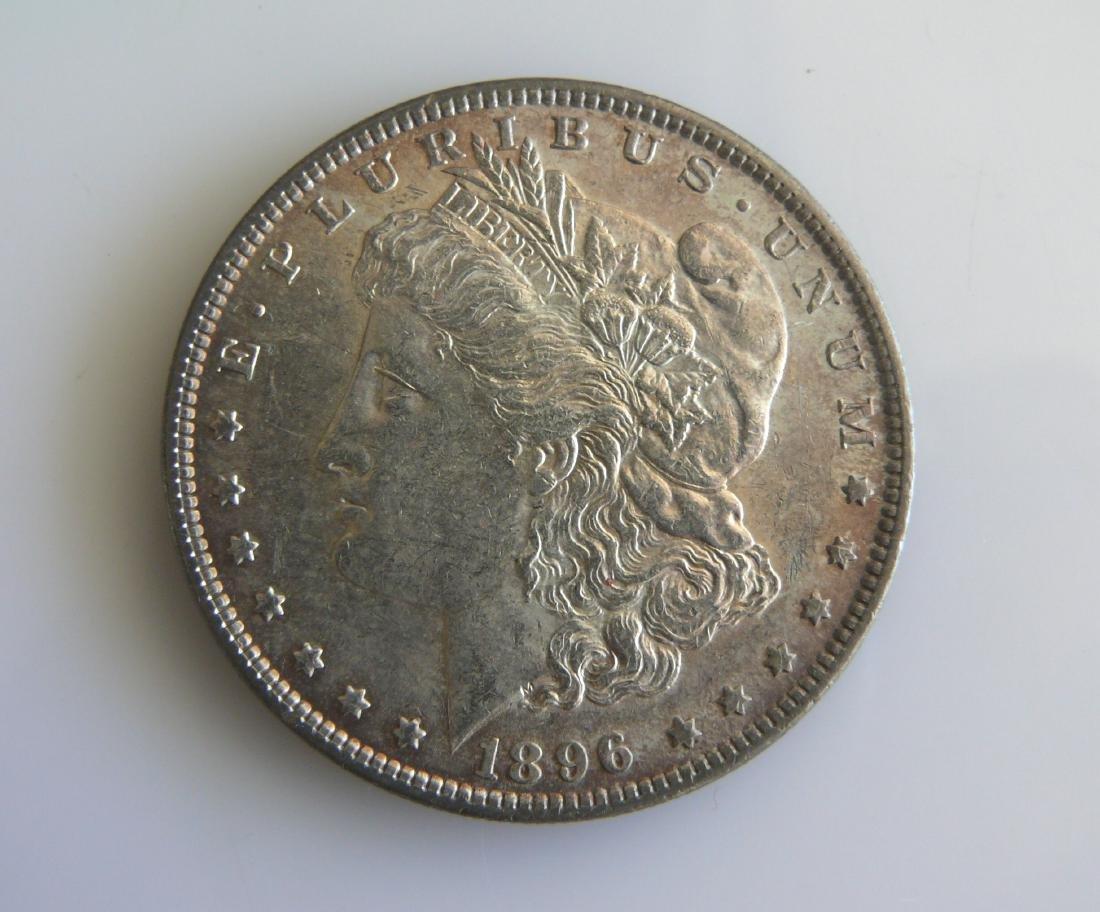 1896 P Superbly Toned Uncirculated Morgan Silver Dollar
