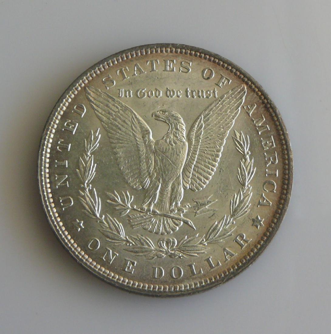 1896 P Superbly Toned Uncirculated Morgan Silver Dollar - 2