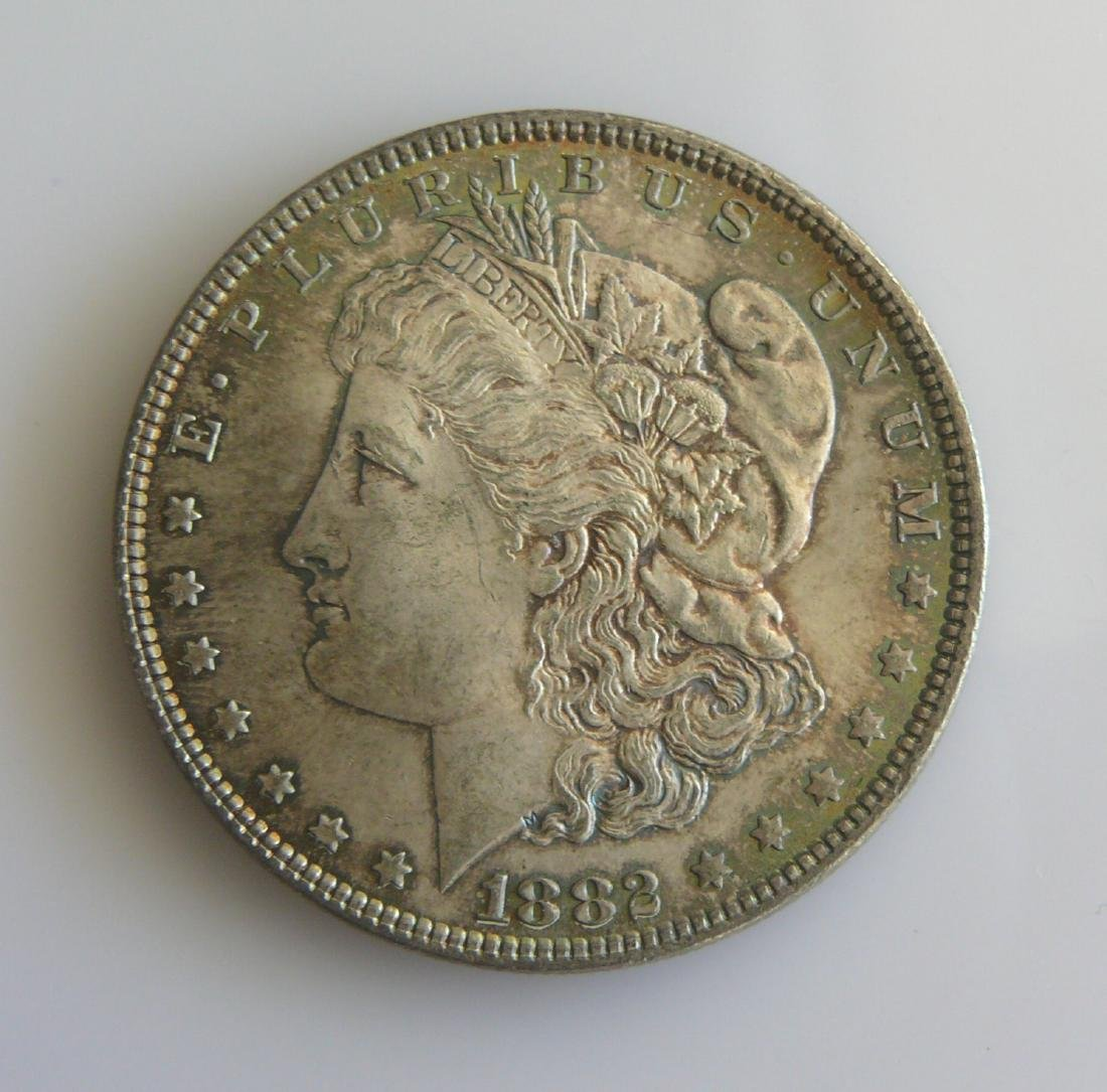 1885 P Superbly Toned Gem Uncirculated Morgan Silver