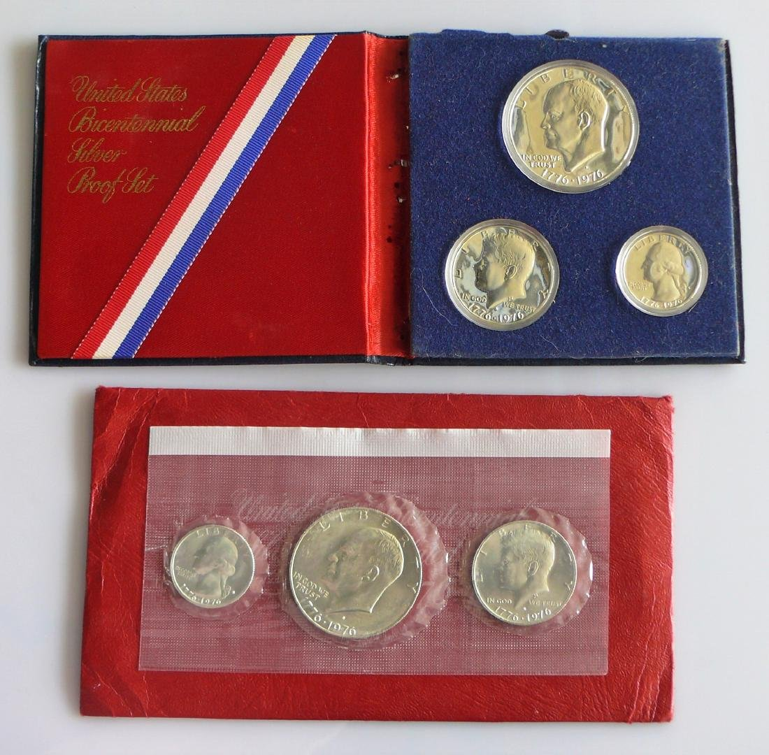 1976 Bicentenial United States Silver Proof And Silver - 2