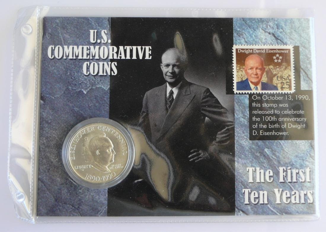 1990 P Uncirculated Eisenhower Commemorative Silver