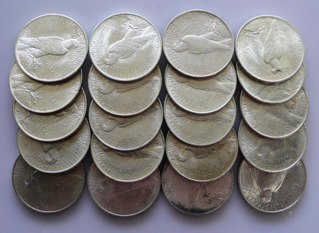 A Twenty (20) Coin Roll of BU Uncirculated 1923 Peace - 2