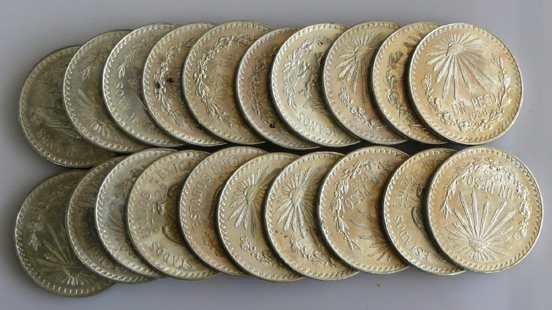 A Twenty (20) Coin Roll of BU Uncirculated 1940S Mexico - 2
