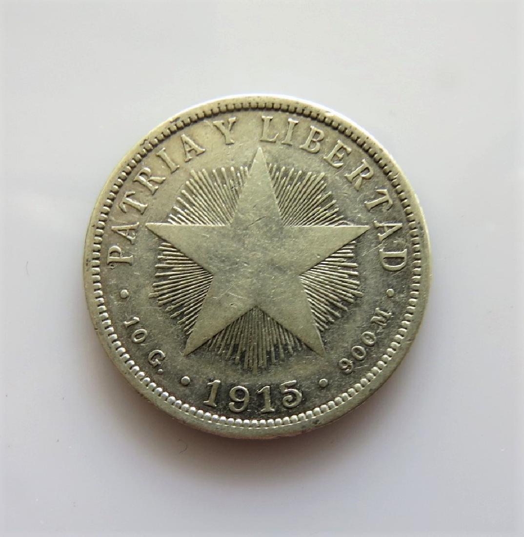 1915 Cuba 40 Centavos Km14.3