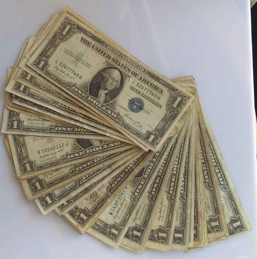 50 Average Circulated 1935 Silver Certificates-With