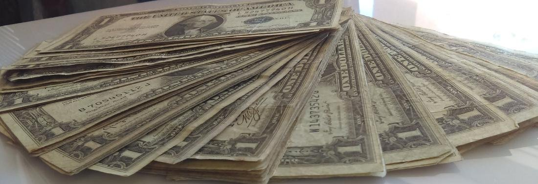 50 Average Circulated 1935 Silver Certificates-With - 2