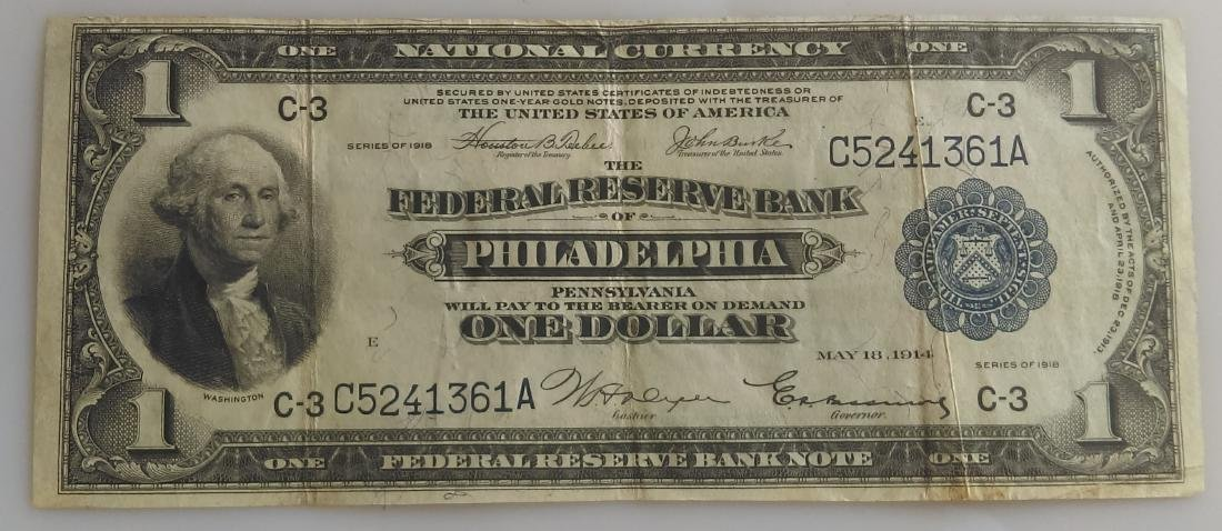 1914 National Currency FRB of Philadelphia One Dollar
