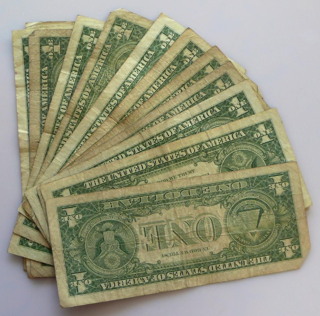 15 Average Circulated 1957 Star Notes Silver - 2