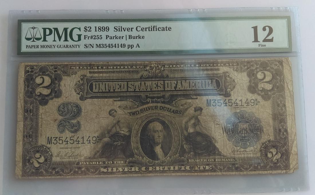 1899 Five Dollar Silver Certificate PMG F-12
