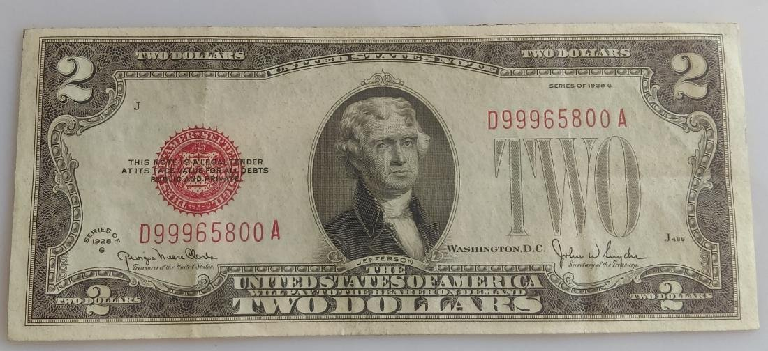 1928-G Small Size Two Dollar United States Note