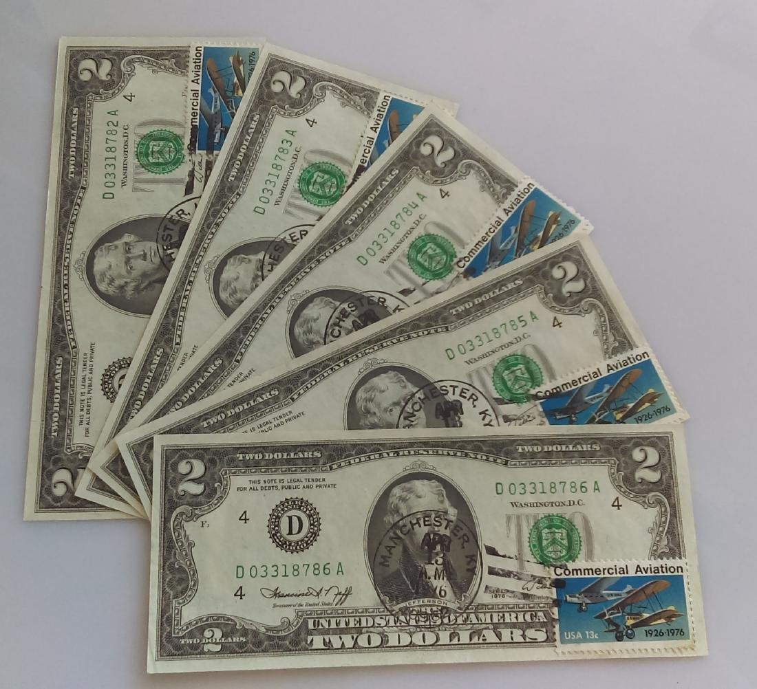 5 (Five) consecutive uncirculated 1976