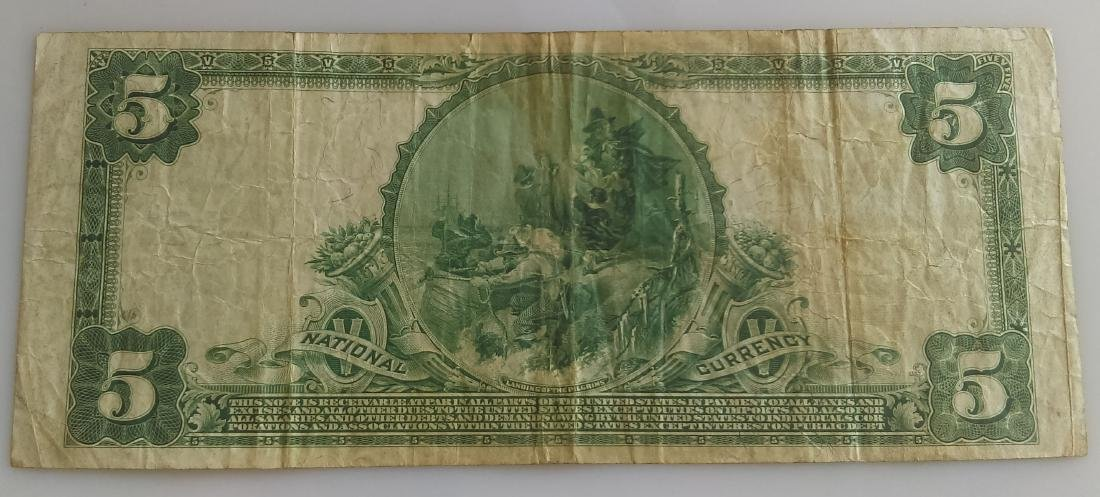 1902 Five Dollar (5.00) National Currency- National - 2