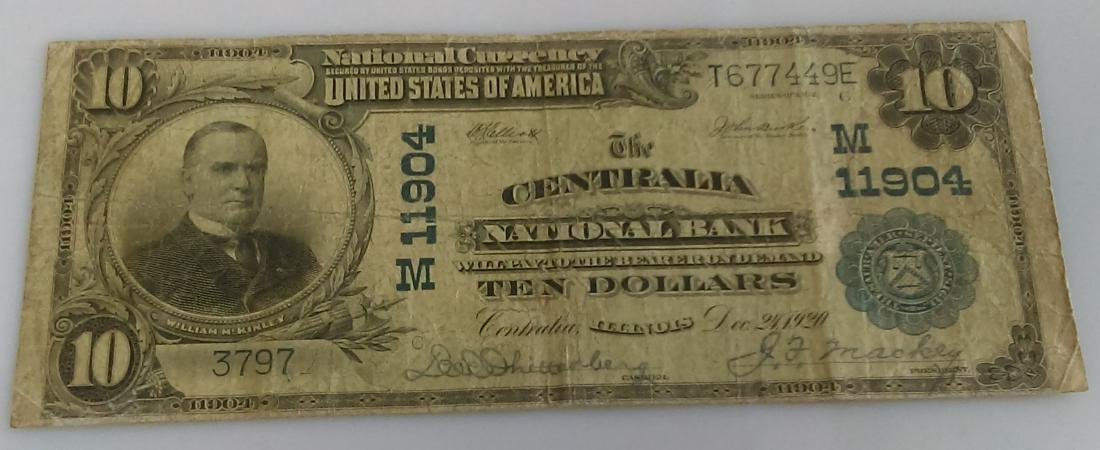 1904 National Currency Centralia National Bank of