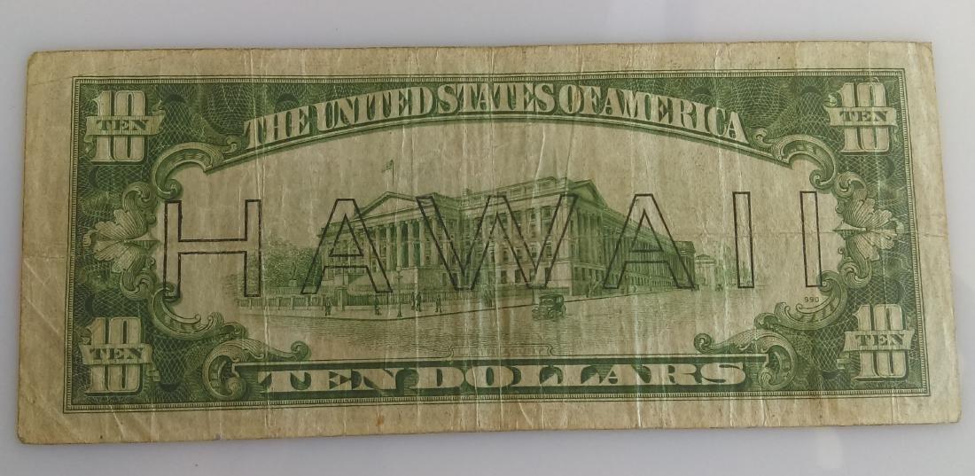 1934-A Hawaii Emergency FRN Ten Dollar Note - 2
