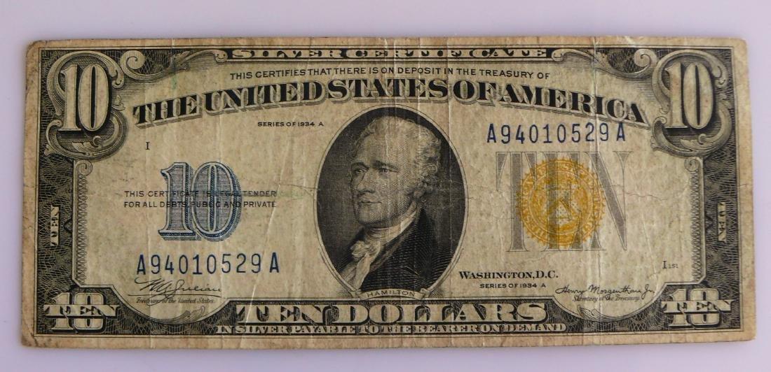 1934 C Ten Dollar Star Note Silver Certificate