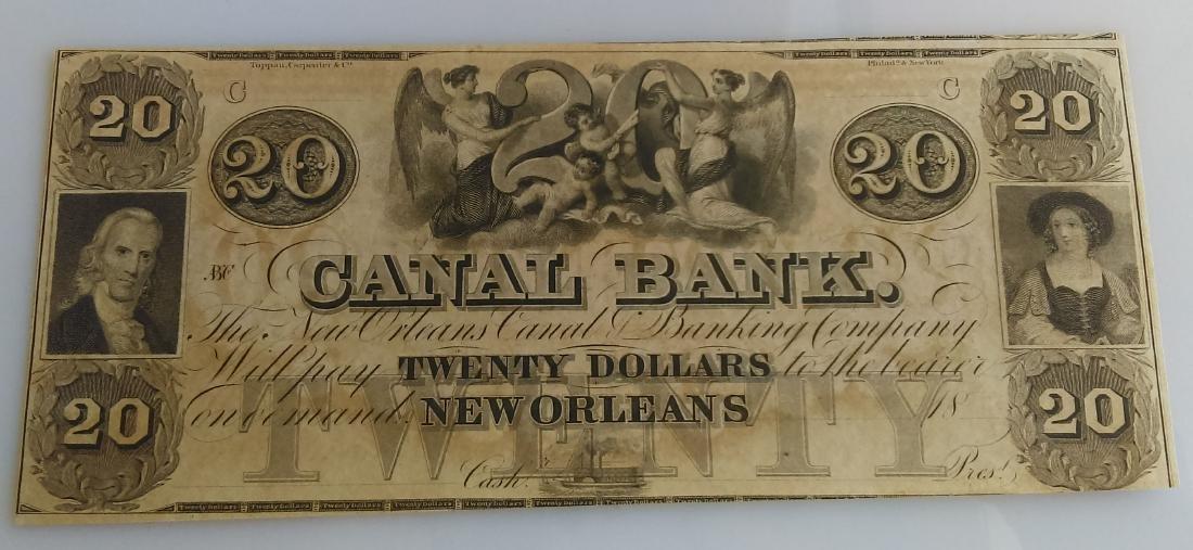Canal Bank Of Louisiana Twenty (20.00) Dollar Note