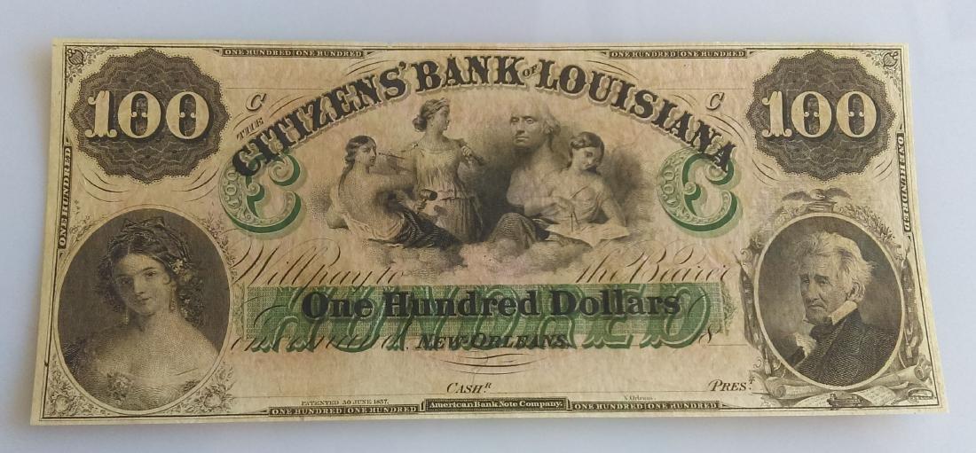 Citizens Bank Of Louisiana One Hundred (100.00) Dollar