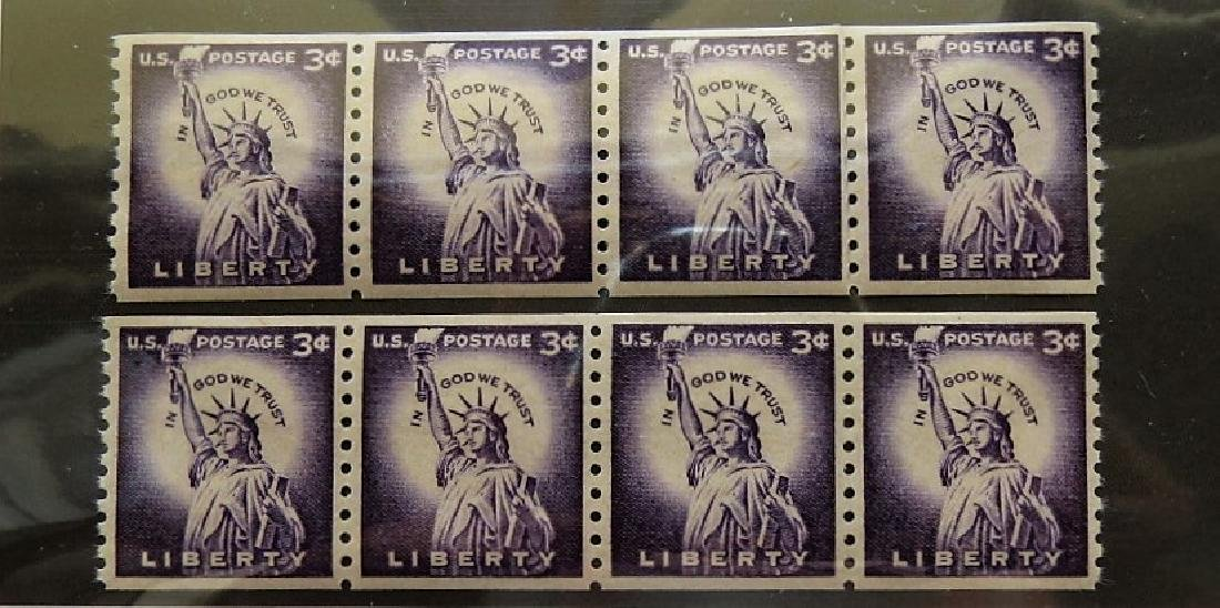 1035 Statue of Liberty 3 Cent Coil Line Pair - 4 Pairs