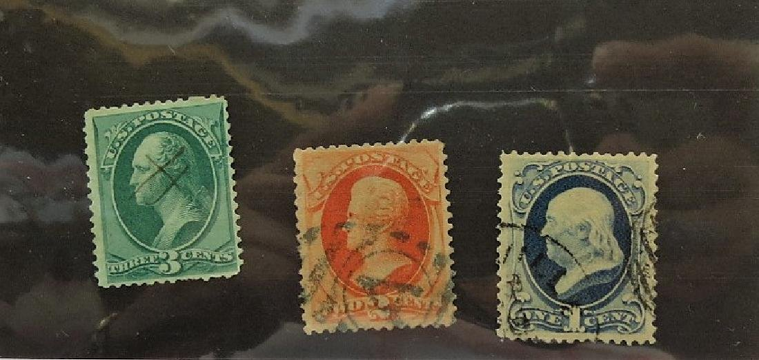 US SC# 182-183-184 Cancelled Banknotes - VF-XF