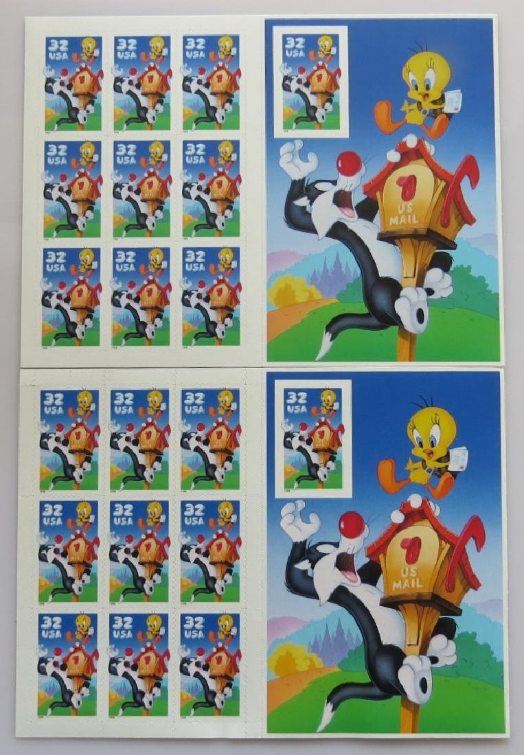 US 3204 Tweety Bird Sheet with Non-Perforate Stamp 2