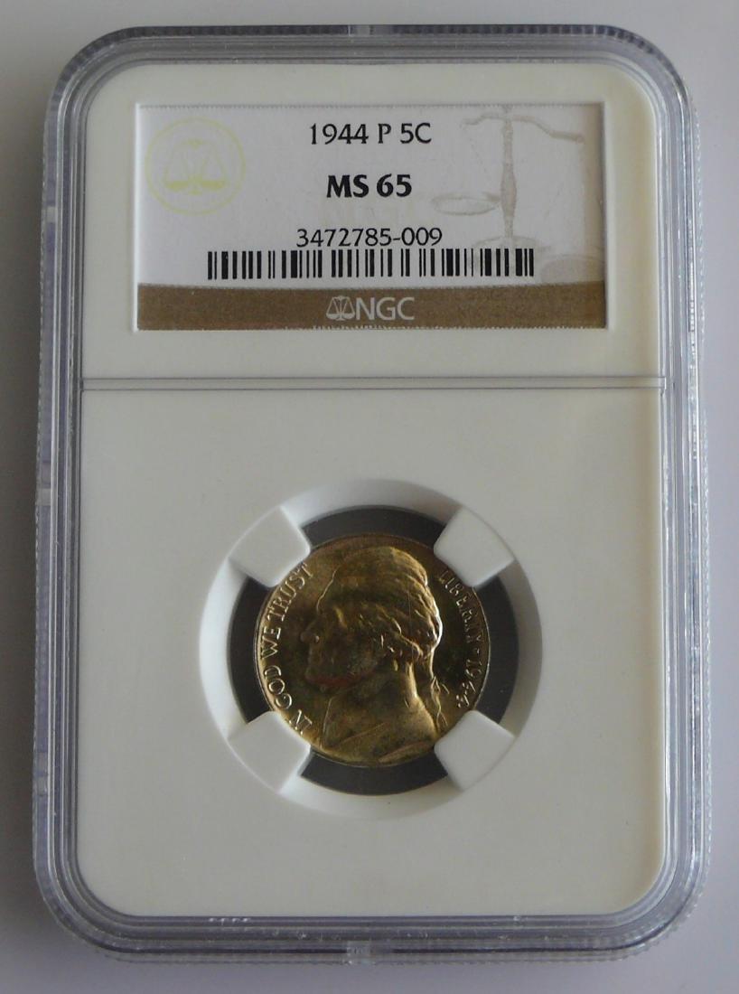 1944 P Jefferson Silver War Nickel NGC MS65
