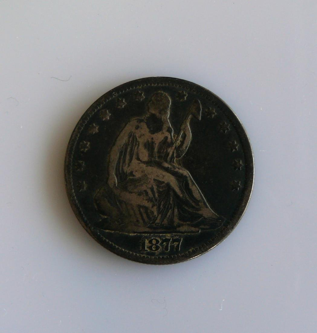 1877-S Seated Liberty Silver Half-Dollar