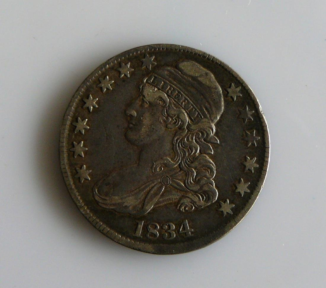 1834 Capped Bust Half-Dollar Nice Original XF Coin