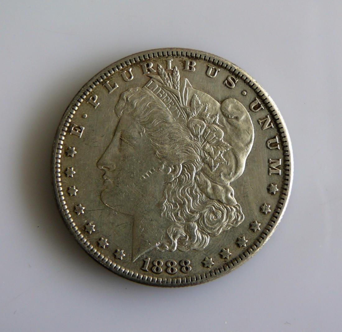 1888-S MORGAN SILVER DOLLAR Nice original XF-AU