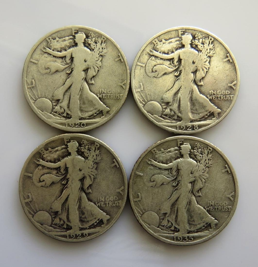 1920 S - 1928 S - 1929 S - 1935 S Walking Liberty
